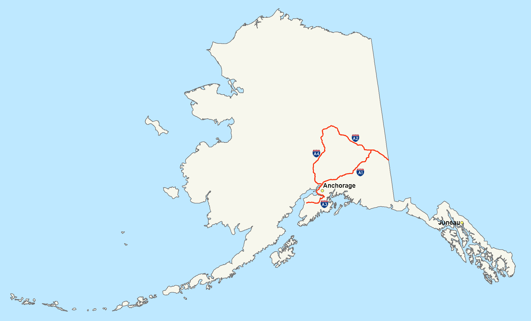 Alaska Belatedly Declares Plans To Secede Over Sewards Folly - Alaska over the us map
